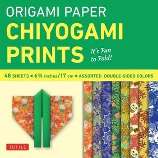 ORIGAMI PAPER CHIYOGAMI PRINTS 17CM 48 SHEETS
