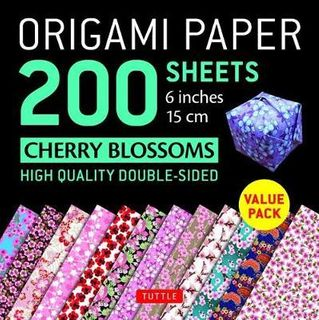 ORIGAMI PAPER CHERRY BLOSSOMS 200 SHEETS