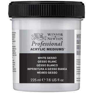 W&N ARTIST ACRYLIC WHITE GESSO 225ML