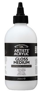 W&N ARTIST ACRYLIC GLOSS MEDIUM 250ML