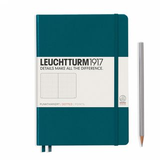 LEUCHTTURM1917 NOTEBOOK MED DOTTED PACIFIC GRN