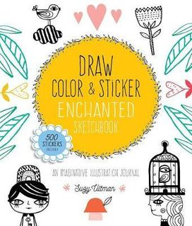 ENCHANTED SKETCHBOOK DRAW COLOUR STICKER