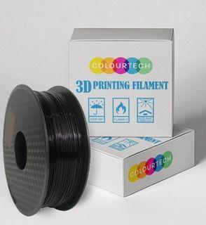 3D PRINTING FILAMENT PLA 1.75MM 1KG ROLL BLACK