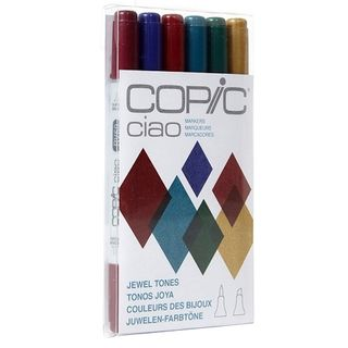 COPIC CIAO MARKER SET 6 JEWEL