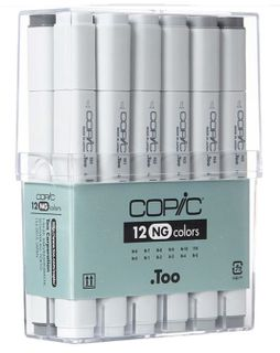 COPIC CLASSIC MARKER SET 12 NEUTRAL GRAY