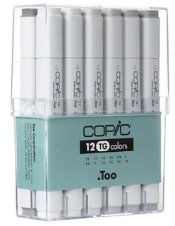 COPIC CLASSIC MARKER SET 12 TONER GRAY