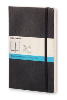 MOLESKINE SOFTCOVER NOTEBOOK DOTGRID LARGE BLACK