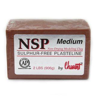 CHAVANT NSP PLASTELINE MEDIUM 906G BROWN