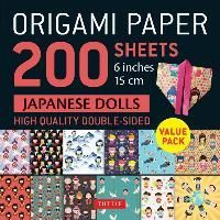ORIGAMI PAPER JAPANESE DOLLS 6 X200