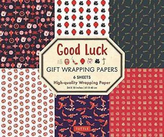 GOOD LUCK WRAPPING PAPER 6 SH 45 X 61CM