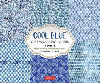 COOL BLUE WRAPPING PAPER 6 SH 45 X 61CM