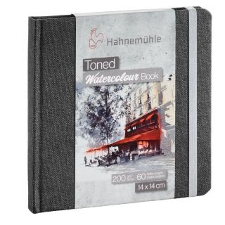 HAHN TONED WATERCOLOUR BOOK 200G 14X14CM GREY