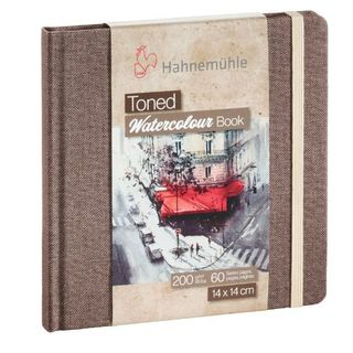 HAHN TONED WATERCOLOUR BOOK 200G 14X14CM BEIGE