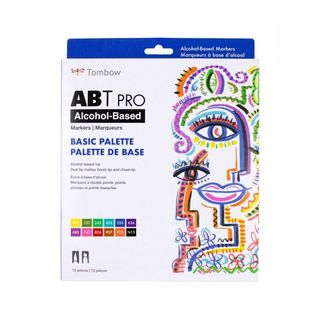 TOMBOW ABT PRO ALCOHOL MARKER SET 12 BASIC COLOURS
