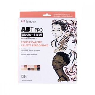 TOMBOW ABT PRO ALCOHOL MARKER SET 12 PEOPLE COLOUR