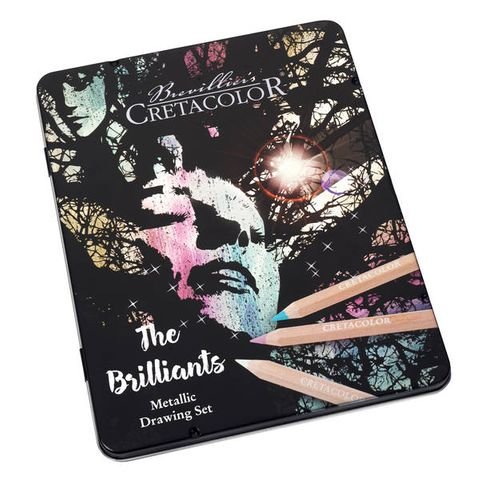 CRETACOLOR BRILLIANTS MEGA METALLIC PENCIL SET 12