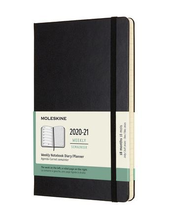 MOLESKINE 18 MONTH DIARY LARGE HARD BLACK
