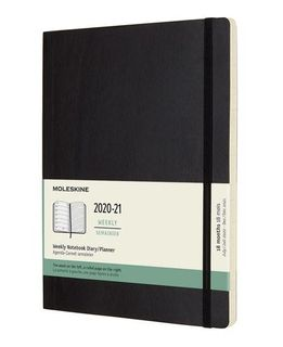 MOLESKINE 18 MONTH DIARY XL SOFTCOVER BLACK
