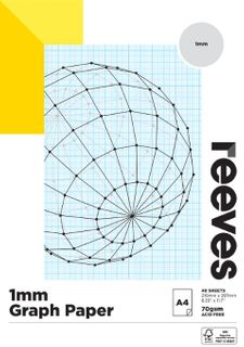 REEVES GRAPH PAPER PAD 1MM 70GSM A4