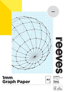 REEVES GRAPH PAPER PAD 1MM 70GSM A3