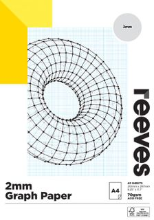 REEVES GRAPH PAPER PAD 2MM 70GSM A4