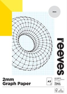 REEVES GRAPH PAPER PAD 2MM 70GSM A3