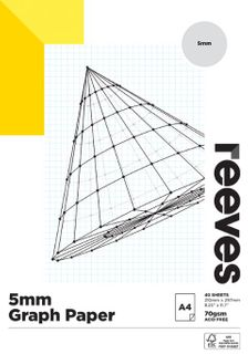 REEVES GRAPH PAPER PAD 5MM 70GSM A4