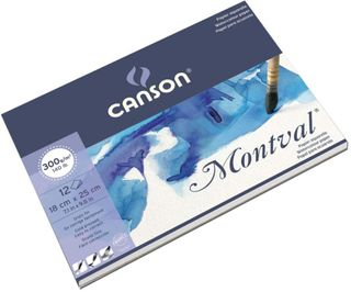 CANSON MONTVAL W/C PAD 300G CP 18X24CM 12 SHEETS