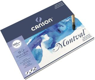 CANSON MONTVAL W/C PAD 300G CP 24X32CM 12 SHEETS