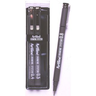ARTLINE DRAWING SYSTEM PEN 0.4, 0.5, 0.8 WALLET 3
