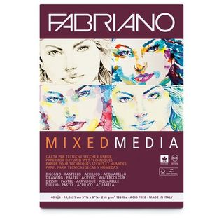 FABRIANO MIXED MEDIA 250G PAD A5 40SHT