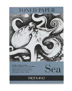 FABRIANO TONED PAPER PAD 120G A4 SEA