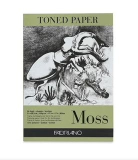FABRIANO TONED PAPER PAD 120G A4 MOSS