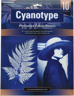 JACQUARD CYANOTYPE PRETREATED FABRIC SHEETS PKT10
