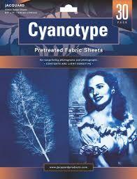 JACQUARD CYANOTYPE PRETREATED FABRIC SHEETS PKT30