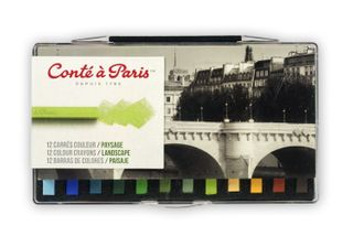 CONTE COLOUR CARRE CRAYONS LANDSCAPE SET 12