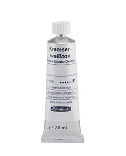 SCHMINCKE ART OIL FLAKE WHITE HUE 35ML