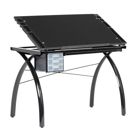 FUTURA CRAFT STATION TABLE BLACK/BLACK GLASS