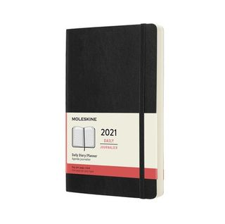 MOLESKINE 2021 DAILY LARGE DIARY 12M BLK HARDCOVER