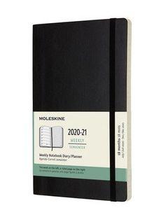MOLESKINE 18 MONTH DIARY LARGE SOFT BLACK