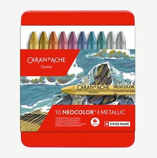 NEOCOLOR I WAX CRAYON METALLIC SET 10