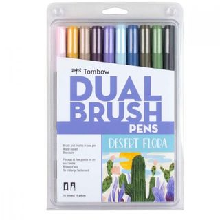 TOMBOW ABT BRUSH MARKER SET 10 DESERT FLORA