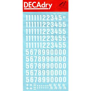 DECADRY NUMBERS #13 LARGE WHITE 12MM