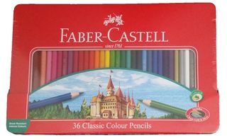 FABER CLASSIC COLOUR PENCIL TIN SET 36