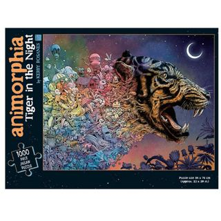 ANIMORPHIA TIGER IN THE NIGHT 1000 PIECE PUZZLE