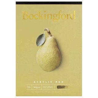 BOCKINGFORD ACRYLIC PAD 360GSM A4 12 LEAF