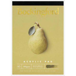 BOCKINGFORD ACRYLIC PAD 360GSM A5 12 LEAF