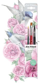 DA VINCI BOTANICAL ART WATERCOLOUR BRUSH SET 3