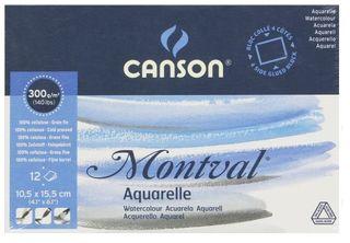 CANSON MONTVAL WATERCOL BLOCK 300G CP 10.5X15.5CM