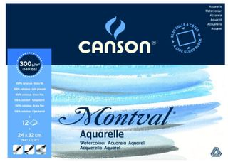 CANSON MONTVAL WATERCOLOUR BLOCK 300G CP 24 X 32CM